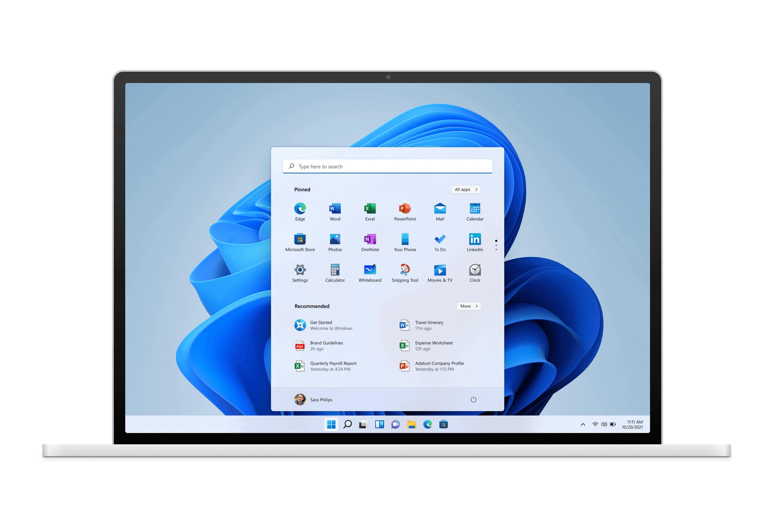 Windows 11 laptop template